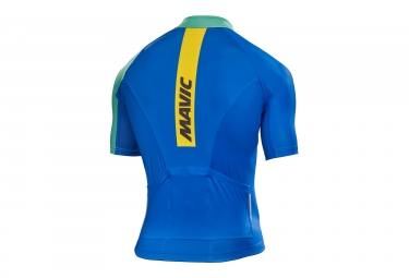 maillot manches courtes mavic 2017 crossmax elite bleu vert xl