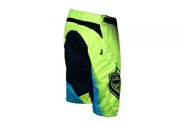 short troy lee designs sprint starburst jaune bleu 2017 34