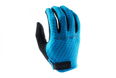 Gants longs troy lee designs sprint bleu 2017 s