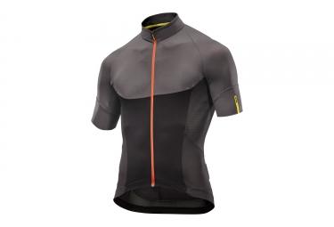 maillot manches courtes mavic 2017 ksyrium pro noir gris xxl