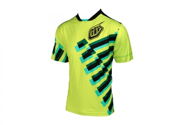 maillot manches courtes troy lee designs skyline force jaune fluo 2017 xl
