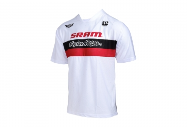 Maillot manches courtes troy lee designs skyline air team sram blanc 2017 m