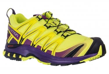 SALOMON Shoes XA PRO 3D GTX Women Yellow Purple