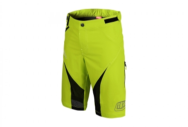 short avec peau troy lee designs terrain jaune fluo 2017 32