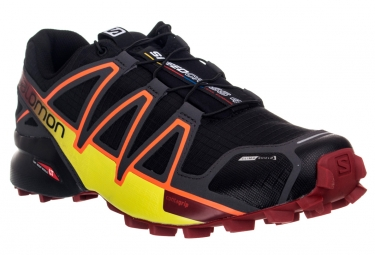 salomon speedcross 4 climashield noir orange rouge 41 1 3
