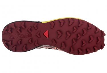 salomon speedcross 4 climashield noir orange rouge 41 1 3