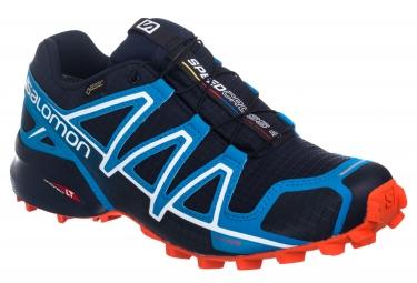 salomon speedcross 4 gtx bleu orange 42 2 3