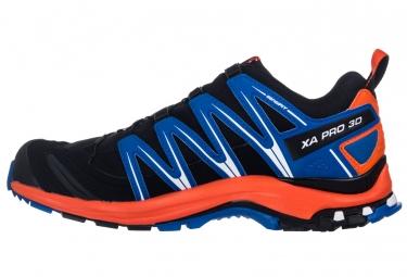 Chaussures de Trail Salomon XA PRO 3D GTX Noir / Bleu / Orange