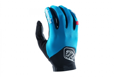 gants longs troy lee designs ace 2 bleu 2017 l