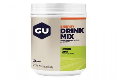 Boisson Energétique GU Drink Mix Citron-Citron Vert 840g