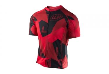maillot manches courtes troy lee designs ace 2 0 chop block rouge l