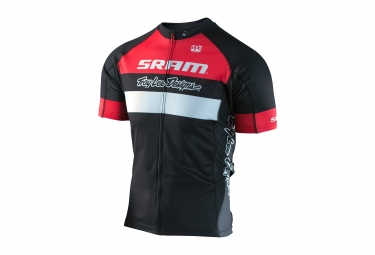 maillot manches courtes troy lee designs ace 2 0 team sram noir rouge 2017 s