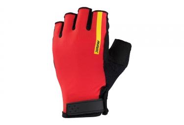 paire de gants courts femme mavic 2017 aksium rouge s