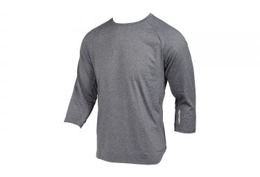 maillot manches courtes troy lee designs compound 3 4 gris 2017 l