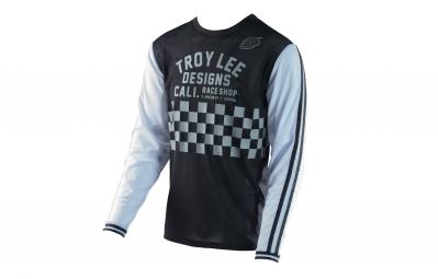 Maillot Manches Longues Troy Lee Designs Super Retro Noir Blanc 2017
