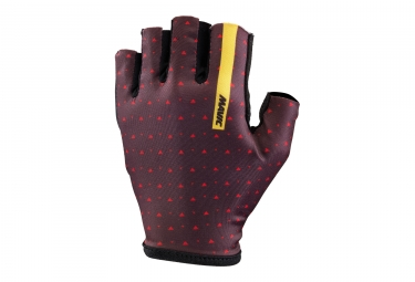 paire de gants courts mavic 2017 sequence violet rouge m