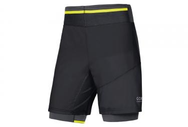 Short 2-en-1 Gore Running Wear Fusion Noir