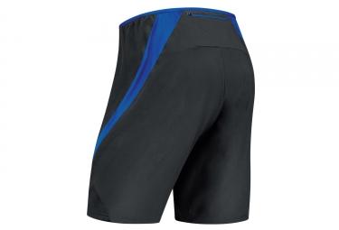 Short 2-en-1 Gore Running Wear Air Noir Bleu