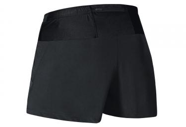 Short 2-en-1 Gore Running Wear Air 6cm Noir