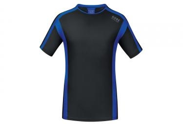 Maillot Manches Courtes Gore Running Wear Air Noir Bleu
