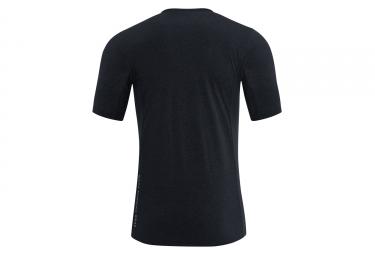 maillot manches courtes gore running wear essential noir xl