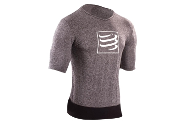 Maillot compressport training gris s