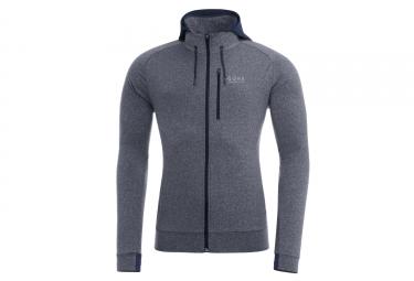 veste a capuche gore running wear essential gris l