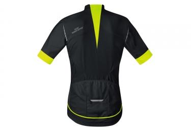 maillot manches courtes gore bike wear oxygen windstopper noir jaune l