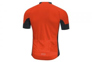 maillot manches courtes gore bike wear oxygen cc noir orange s
