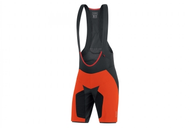 short 2 en 1 gore bike wear alp x pro orange noir l