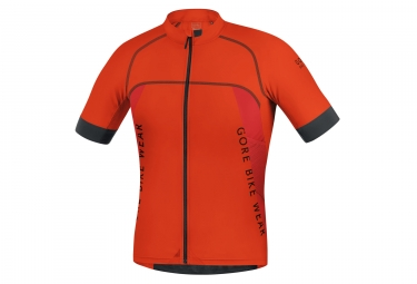 maillot manches courtes gore bike wear alp x pro orange noir l