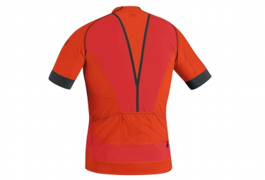 Maillot Manches Courtes Gore Bike Wear Alp-X Pro Orange Noir