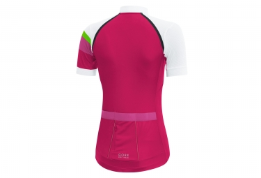 Maillot Manches Courtes Gore Bike Wear Power Lady CC Rose Blanc