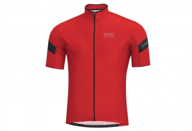 maillot manches courtes gore bike wear power 3 0 rouge noir s