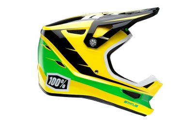 casque integral 100 status d day jaune xl 61 62 cm