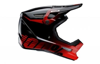 casque integral 100 status selecta rouge noir s 55 56 cm