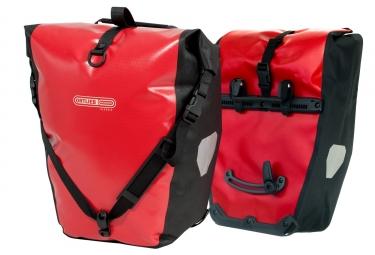 ortlieb paire de sacoches porte bagage arriere back roller classic rouge noir