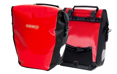 ORTLIEB Pair Of Rear Trunk Bag BACK-ROLLER CITY Red Black