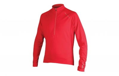 endura maillot manches longues xtract rouge m