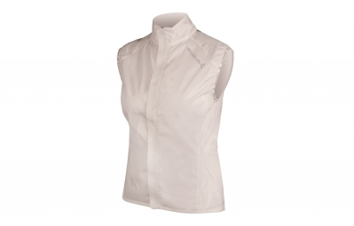 endura veste coupe vent femme pakagilet blanc s