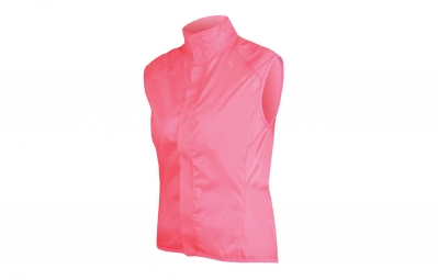 endura veste coupe vent femme pakagilet rose fluo m