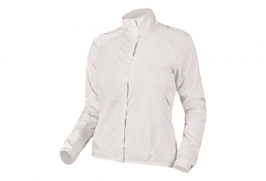 Waterproof Jacket ENDURA Pakajak White Women