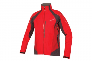 endura veste impermeable velo ii protection ptfe rouge s