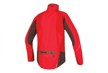 endura veste impermeable velo ii protection ptfe rouge l