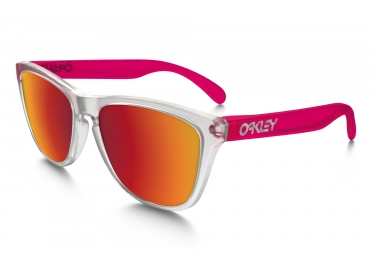 oakley lunettes frogskins transparent rose torch iridium ref oo9013 b355