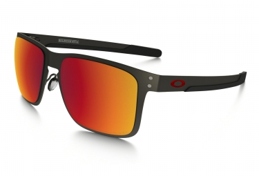 oakley lunettes holbrook metal matte gunmetal torch iridium polarized ref oo4123 0555