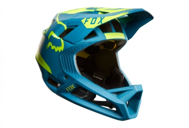 Fox Proframe Moth Full Face Helmet Blue Yellow