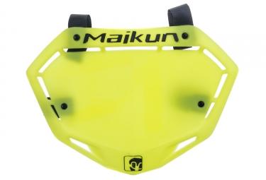 Maikun 3d Race Plate Neon Yellow