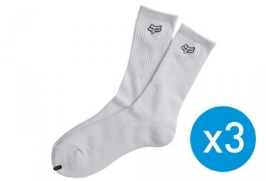 x3 paires de chaussettes fox crew blanc 39 42