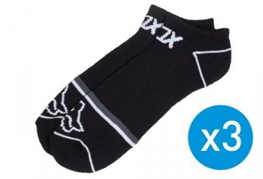 x3 paires de chaussettes fox tech midi noir 39 42